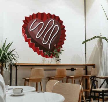 Sticker praline Valentijn Hartje