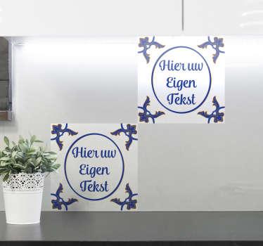 Delfts Blauw tegelsticker personaliseerbaar