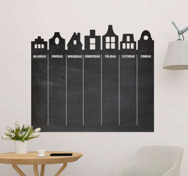 A self adhesive wall sticker you can write on, designed in form of a chalkboard for you . It is available in any required size and easy to apply.
