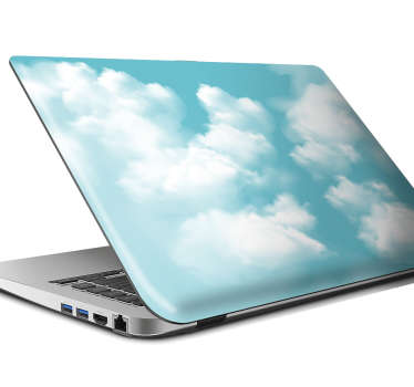 Laptop sticker blauwe wolken