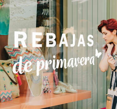 Vinilos para escaparates de tiendas que deseen promocionar los productos que ofrecerán a sus clientes para la campaña primavera.