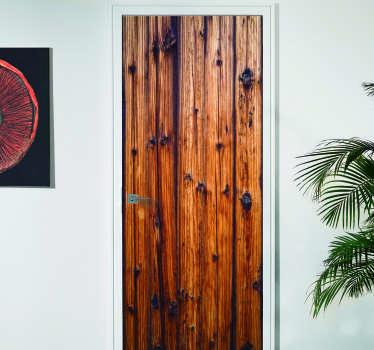 Slaapkamer deursticker antiek hout