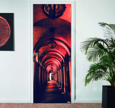 Give new life to the doors of your home with this mural photo of an infinite corridor with columns to accompany you on your walk to the other side!