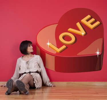 Sticker boite chocolat love