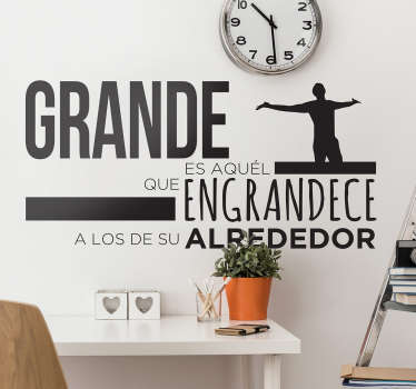 Motivational quotes wall sticker to decorate the home and office space. It is available in different colours and size options.