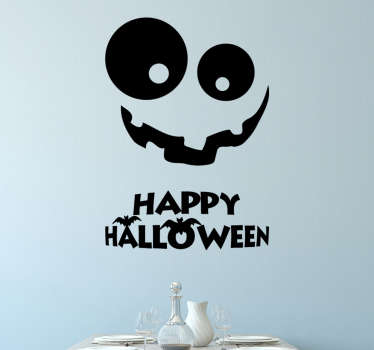 An original decal of a halloween pumpkin. Decorate your home during halloween with this cool and friendly wall sticker.