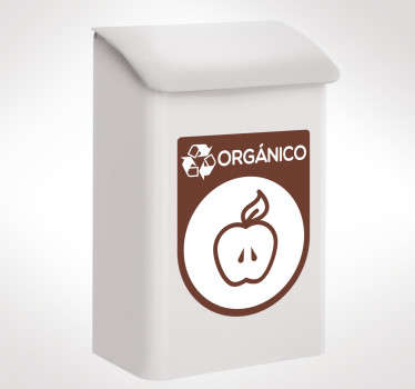 Organic recycling  emoji sticker to place on dustbin containers to indicate where to put organic waste. It is easy to apply and available in any size.