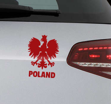 Poland coat of arms  car sticker  to decorate any vehicle of choice. It is easy to apply and adhesive. It is customisable in the  colours we have.