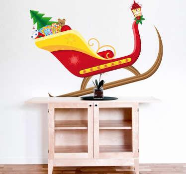 Naklejka dekoracyjna sanie świętego Mikołaja