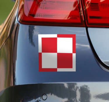 Patriotic chess board car sticker to decorate any vehicle type. It is decorative on any other flat surface of choice and it is available in any size.