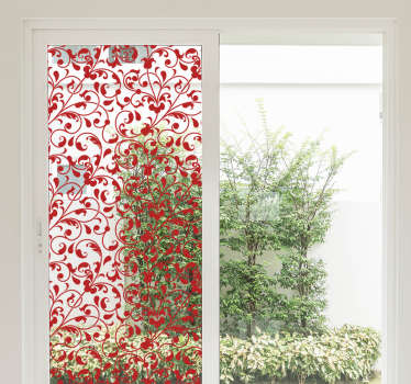 Bring your windows to life and color with this window decal sticker showing a climbing plant pattern. Ideal to put in your living room or kitchen.