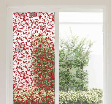 Raamfolie bloemen patroon