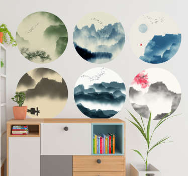 Mountains and trees nature wall decal to decorate the home and office space. It is easy to apply and self adhesive. Buy it in any size required.