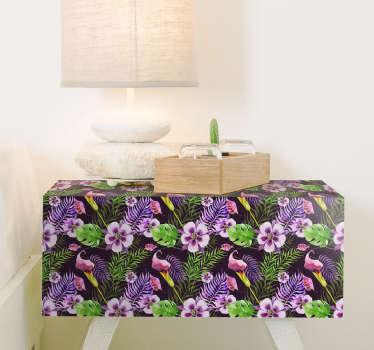 Ikea sticker bloemen paars