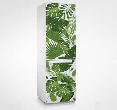 Naklejka na lodówkę tropikalne liście