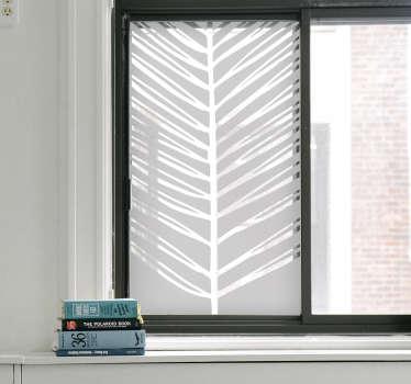 Naklejka na okno egzotyczny liść