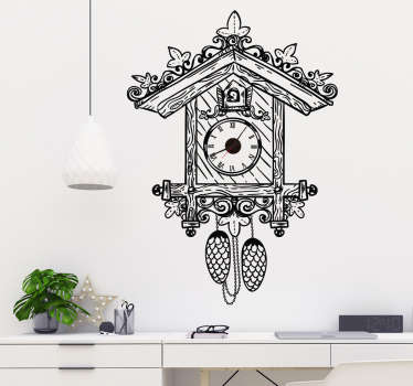 Wall clock sticker with roman numeral design to decorate the home in style. It comes in different colours and size options.