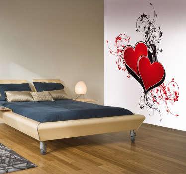 Sticker hartjes valentijn