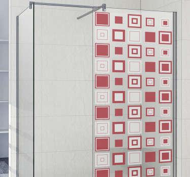 Quadretti geometrici con adesivi per box doccia