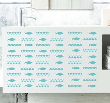Autocolante para banheiro peixes