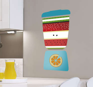 Fruit wall sticker designed in a blender style. It is available in any size required. Easy to apply and self adhesive...