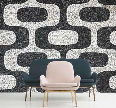 Portugisisk väggklistermärke för stenväggstextur för att dekorera hemmet i klassisk stil. Den finns i önskad storlek.