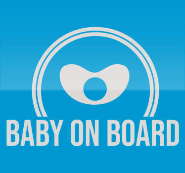 Baby on board vinyl sticker to decorate a car riding with a baby in it. We have it in any required size and it comes in different colour option.