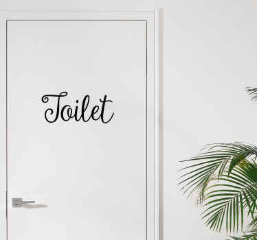 Toilet Door Decorative Sticker