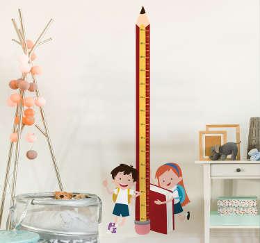 Naklejka miarka wzrostu ołówek