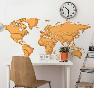 Worldmap wallsticker