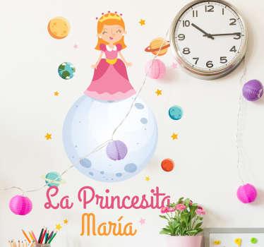 Vinilo personalizado la princesita