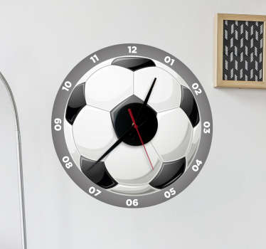 Football Wall Clock Sticker