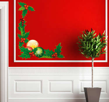 Decals - Christmas ornamental floral design. Christmas decorations to get you into the spirit of the season. Wall stickers.