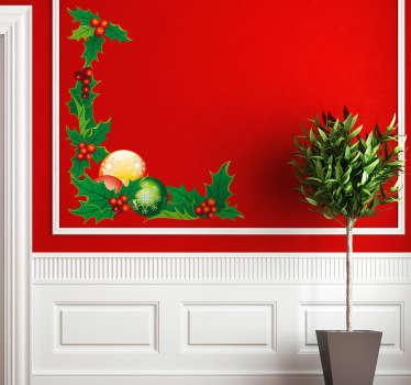Sticker décoration d'angle de Noël