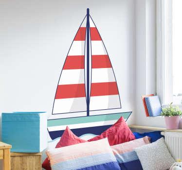 Adesivo de cabeceira barco infantil