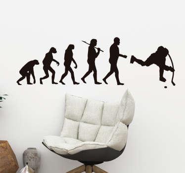 Evoluutio jääkiekko laukaus seinätarra