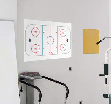 Ice hockey rink decal you can write on will help you to come up with the best strategy to win the game. Easy to apply on the wall!