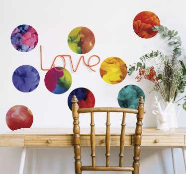 Autocolante de bolas multicolor