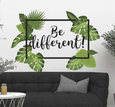 Adesivo murale piante be different