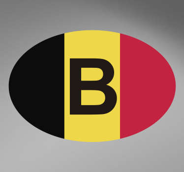 Colorful decorative Belgium flag car sticker . A design for all flat surface. It is easy to apply, self adhesive and available in any size.