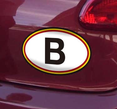 Sticker voiture Belgique