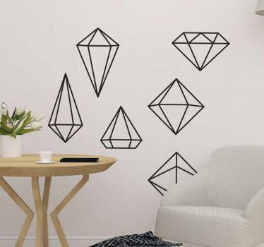 Vinil decorativo prismas geométricos