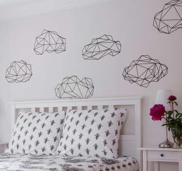 Stickers Mural Origami Nuage