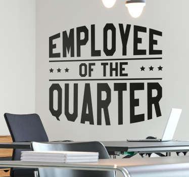 Employee of the Quarter Wall Sticker