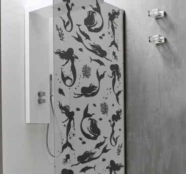 Dusch klistermärke sjöjungfru