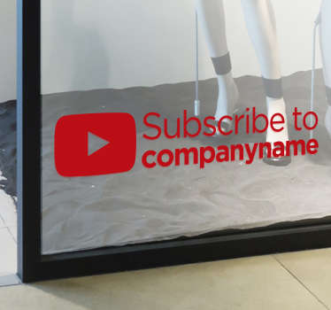 Personalised YouTube Subscribe Sticker