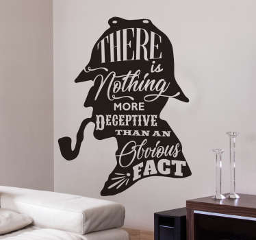 Sherlock Holmes Quote Wall Sticker