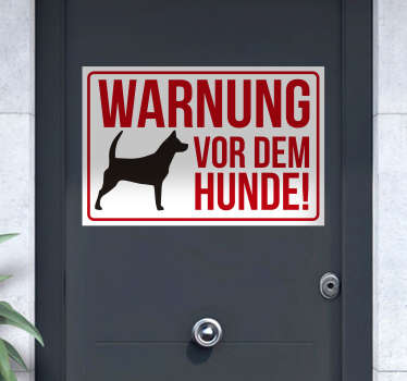 Signage vinyl decal for dog  designed with a dog print and '' beware of the dog'' text. Available in different size option.