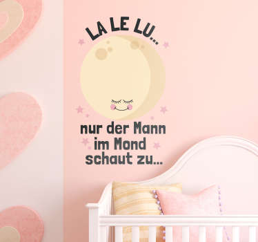 La Le Lu  nursery rhyme wall decal for infant room decoration. It is available in any required size, easy to apply and adhesive.