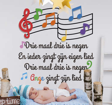 Children nursery rhyme wall art decal for bedroom decoration . It is available in different size option. It is easy to apply and adhesive.
